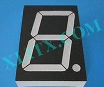 "Green 7 Segment LED Display 1.8 inch 1.80"" Single Digit 1 7-seg CC CA"