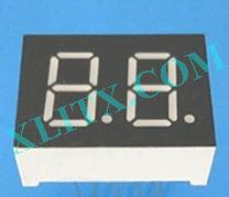 "Orange Seven Segment LED Display 0.36 inch 0.36"" Dual Digit 2 Common Anode"