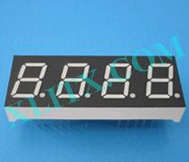"Orange Seven Segment LED Display 0.5 inch 0.5"" Four Digit 4 Common Anode 0.50inch"