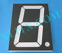 "Orange Seven Segment LED Display 5.0inch 5.0"" Single Digit Common Anode CA 5inch"