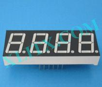 Red Ultra Bright LED 7 Segment Display 0.56 inch Four Digit Common Anode CA