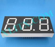 Yellow Green LED 7 Segment 0.8 inch 0.80 3 Digit Three Display Common Cathode CC