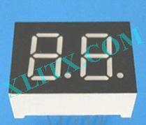 "Yellow LED Seven Segment Display 0.36"" Dual Digit 2 Common Cathode CC"
