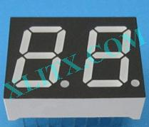 "Yellow LED Seven Segment Display 0.52"" Dual Digit 2 Common Cathode CC"