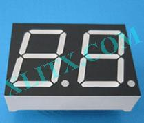 "Yellow LED Seven Segment Display 0.8"" Dual Digit 2 0.8 Common Cathode CC 0.8inch"