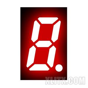 3121BS - 0.32-inch Red 1-Digit CA LED 7-Segment Display