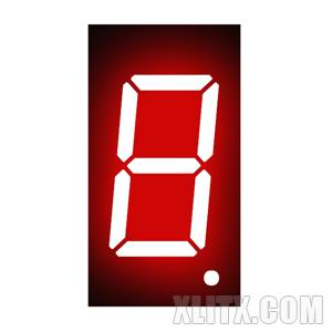 3161BH - 0.36-inch Red 1-Digit CA LED 7-Segment Display