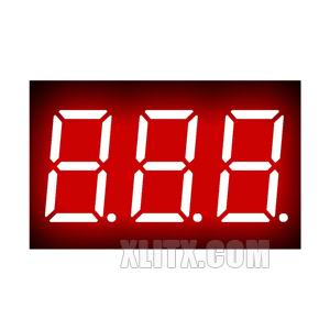 3361AS - 0.36-inch Red 3-Digit CC LED 7-Segment Display