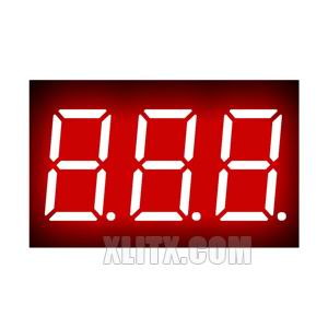 3361BH - 0.36-inch Red 3-Digit CA LED 7-Segment Display