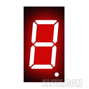 3611AS - 0.36-inch Red 1-Digit CC LED 7-Segment Display