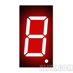 3611BH - 0.36-inch Red 1-Digit CA LED 7-Segment Display