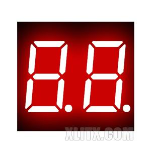 3621AS - 0.36-inch Red 2-Digit CC LED 7-Segment Display