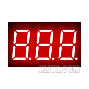 3631BH - 0.36-inch Red 3-Digit CA LED 7-Segment Display