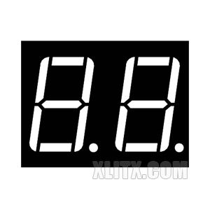5261BS - 0.56-inch 2-Digit Red CA LED 7-Segment Display