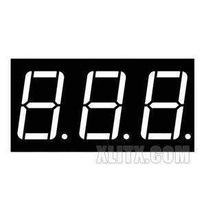 5361BS - 0.56-inch 3-Digit Red CA LED 7-Segment Display