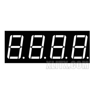 5461BS - 0.56-inch 4-Digit Red CA LED 7-Segment Display