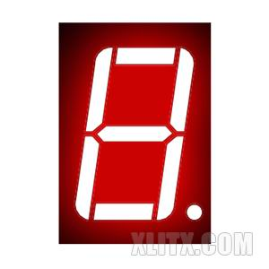 5611AS - 0.56-inch Red 1-Digit CC LED 7-Segment Display