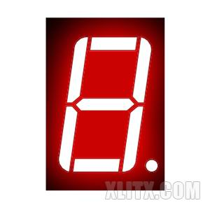 5611BS - 0.56-inch Red 1-Digit CA LED 7-Segment Display