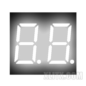 CL3621BW - 0.36-inch White 2-Digit CA LED 7-Segment Display