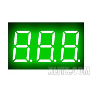 CL3631AGG - 0.36-inch Green 3-Digit CC LED 7-Segment Display