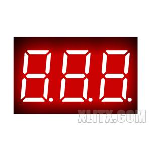 CL3631AH - 0.36-inch Red 3-Digit CC LED 7-Segment Display