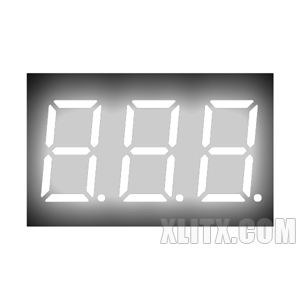 CL3631BW - 0.36-inch White 3-Digit CA LED 7-Segment Display