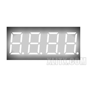 CL3641BW - 0.36-inch White 4-Digit CA LED 7-Segment Display