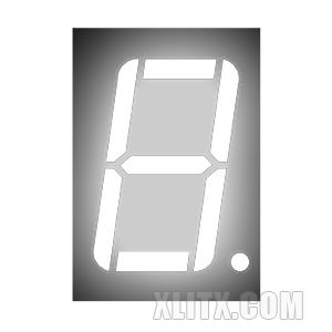 CL5611AW - 0.56-inch White 1-Digit CC LED 7-Segment Display
