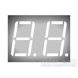 CL5621AW - 0.56-inch White 2-Digit CC LED 7-Segment Display