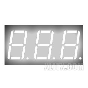 CL5631AW - 0.56-inch White 3-Digit CC LED 7-Segment Display