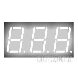 CL5631BW - 0.56-inch White 3-Digit CA LED 7-Segment Display