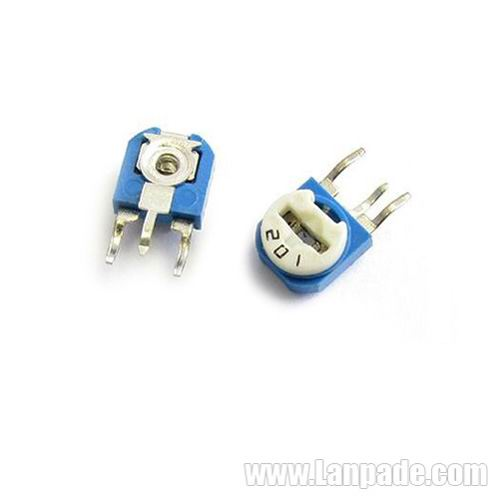 200K Ohm RM063-204 Blue White Potentiometer Single-Turn 6mm Carbon Film Variable Resistors WH06-1 100PCS Lot