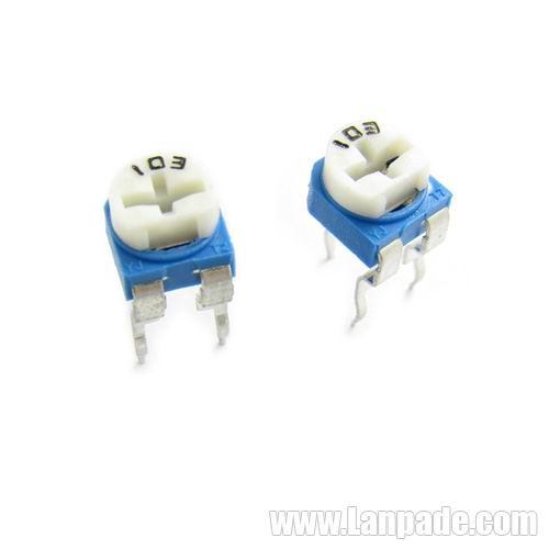 500R 500 Ohm RM065-501 Blue White Potentiometer Single-Turn 6mm Carbon Film Variable Resistors WH06-2 100PCS Lot