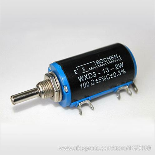 3.3K 3K3 Ohm Potentiometer WXD3-13-2W WXD3 13 2W Wirewound High Precision 100PCS Lot